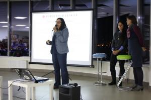 Yuliya Slutskaya, Press Club Belarus founder, presents themes for upcoming  meetings