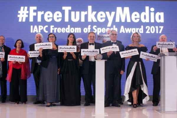 The IAPC Freedom of Speech Award 2017 for independent Turkish journalists